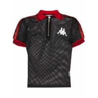 Charm's Camisa Polo X Kappa Com Acabamento Contrastante - Preto