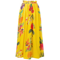 Carolina K Saia Longo Com Estampa Floral - Amarelo