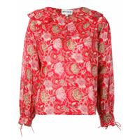 Antik Batik Blusa Com Estampa Floral - Vermelho