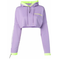Marcelo Burlon County Of Milan Moletom Oversized Cropped - Roxo