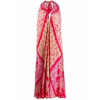 Ralph Lauren Vestido Bandana Com Patchwork - Vermelho