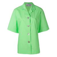 George Keburia Camiseta Cropped - Verde