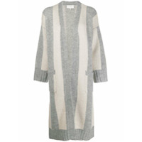 The Great. Striped Cardigan Coat - Cinza