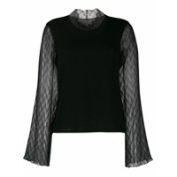 Neul Ruffle Detail Knitted Top - Preto