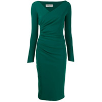 Le Petite Robe Di Chiara Boni Vestido Com Estilo Franzido - Verde