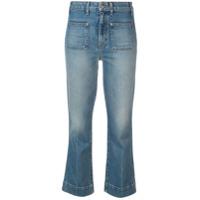 Khaite Calça Jeans Com Patches - Azul