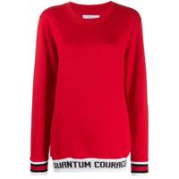 Quantum Courage Moletom Com Listra E Logo - Vermelho