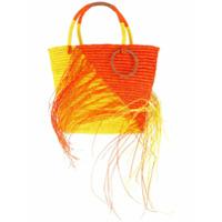 Sensi Studio Bolsa Tote Bicolor Com Puído - Amarelo