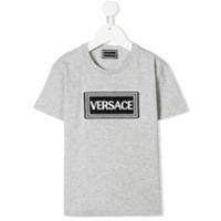 Versace Kids Camiseta com patch de logo - Cinza - FarFetch BR