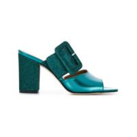 Paris Texas Sapato Mule De Couro - Green