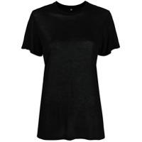 Baserange Camiseta Decote Careca De Bambu - Preto