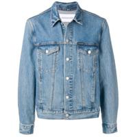Calvin Klein Jeans Jaqueta Jeans Com Patch - Azul