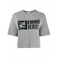 Fendi Camiseta 'femme Fierce' - Cinza