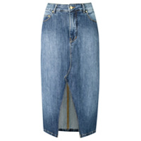 Amapô Saia Jeans Hipster - Azul
