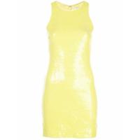 Halston Heritage Vestido Com Bordado De Paetês - Amarelo