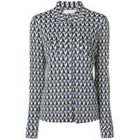 Tory Burch Camisa Com Estampa De Seda - Azul