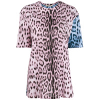 Roberto Cavalli Camiseta Animal Print - Rosa
