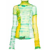 Asai Blusa 'Hot Wok' tie dye - Verde