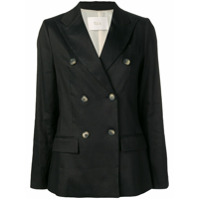 Tela Double Breasted Blazer - Preto