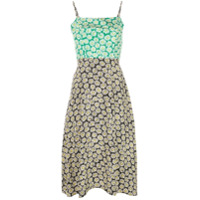 Hvn Vestido Com Estampa De Margarida - Verde