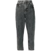 Tommy Jeans Calça Jeans Boyfriend Cropped - Preto
