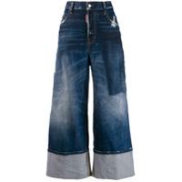 Dsquared2 Calça Jeans Pantalona Com Recortes - Azul