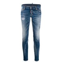 Dsquared2 Calça Jeans Skinny Com Respingos - Azul