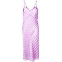 Michelle Mason Vestido Listrado - Roxo