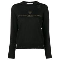 Golden Goose Deluxe Brand Suéter Com Logo - Preto