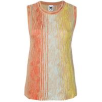 M Missoni Sleeveless Side Knit Knitted Top - Laranja