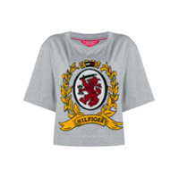 Hilfiger Collection Camiseta Com Logo - Cinza