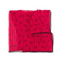 Karl Lagerfeld Echarpe Com Logo - Vermelho