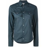 A Shirt Thing Camisa Com Bolsos - Azul