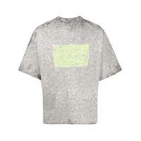 Eytys Camiseta Goliath Com Estampa Aquarela - Cinza