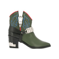Toga Ankle Boot Cowboy De Couro - Green