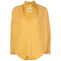 A Shirt Thing Camisa Com Babados Na Gola - Amarelo