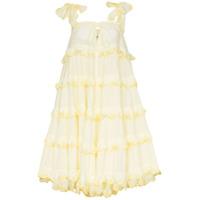 Innika Choo Vestido Midi - Amarelo
