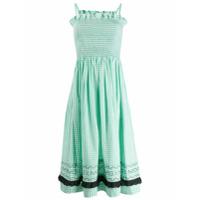 Molly Goddard Vestido Xadrez - Verde