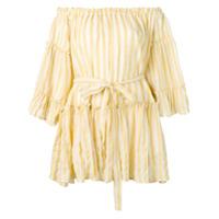 Sundress Vestido Sylvia Listrado - Amarelo