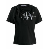 Alexander Wang Camiseta Com Estampa De Logo E Amarração - Preto