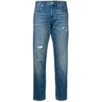 Calvin Klein Jeans Calça Jeans Slim Cropped - Azul