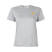 Comme Des Garçons Play Camiseta Com Logo Estampado - Cinza