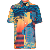 Double Rainbouu Camisa Estampada 'pirate Bay Hawaiian' - Amarelo