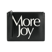 Christopher Kane Clutch 'more Joy' De Couro - Preto
