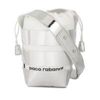 Paco Rabanne Logo Print Bucket Bag - Branco