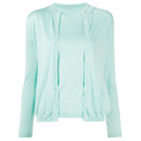 Malo Conjunto Com Blusa E Suéter De Tricô - Azul