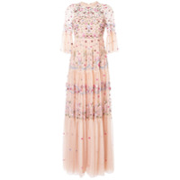 Needle & Thread Vestido De Festa Dreamers Com Renda - Rosa