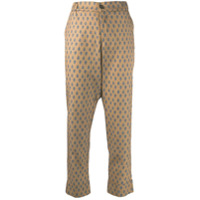 Berwich Embroidered Cropped Trousers - Neutro