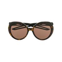 Balenciaga Eyewear Óculos De Sol Redondo - Marrom