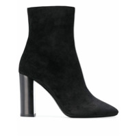 Saint Laurent Ankle Boot De Camurça - Preto